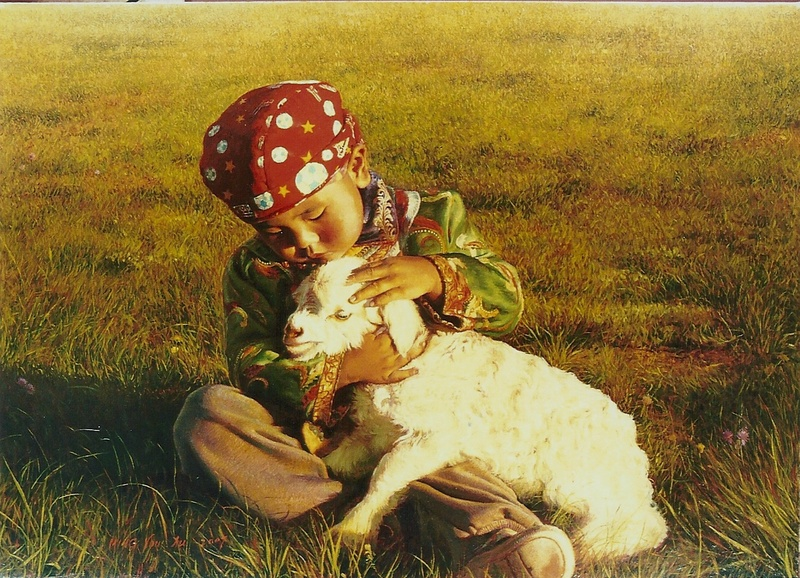 Child and Lamb